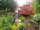 Okrasné jezírko vprostoru zahrady 55. mateřské školy vPlzni